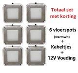 Vloerspot pakket 6x 0,6 Watt & voeding + kabel_10