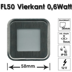 grondspot 0,6 Watt RVS LED WarmWit